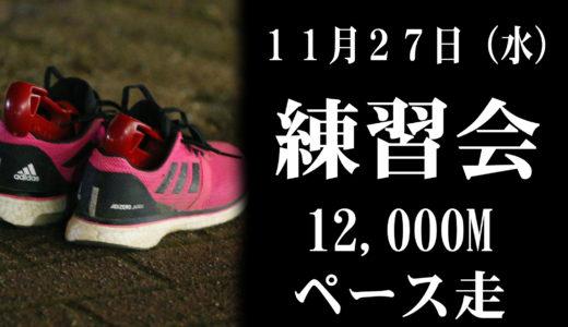 11月27日練習会(12000mペース走)