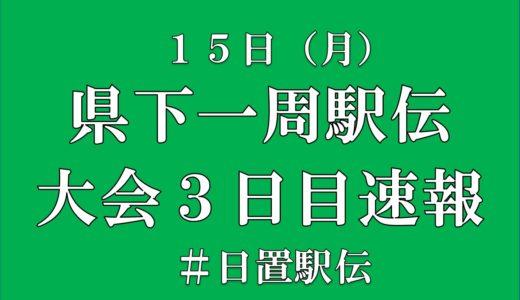 大会速報(3日目)